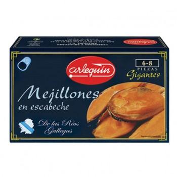 MEJILLONES ESCABECHE GIGANTE 3/4 L/120 GR. ARLEQUIN